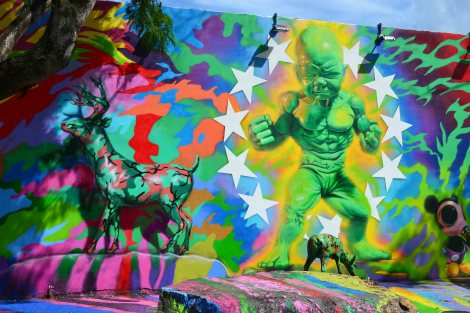 Mural de Ron English en Wynwood Walls