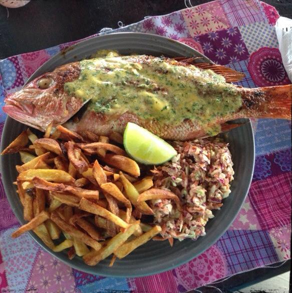 Mi almuerzo en Café del Mar (¡Buenísimo!)