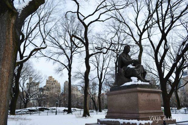 Walter Scott, en pleno invierno