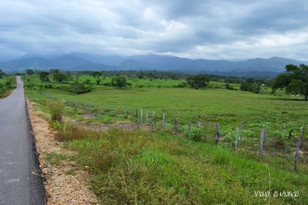 El camino hacia la Sierra de Perijá