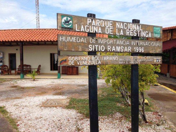 La entrada al Parque Nacional Laguna de la Restinga