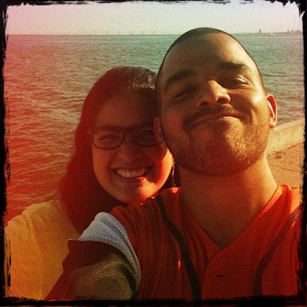Con Yoendry, en Maracaibo, felices