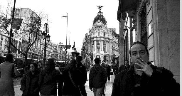 Juan Carlos Méndez Guédez, en la Gran Vía de Madrid