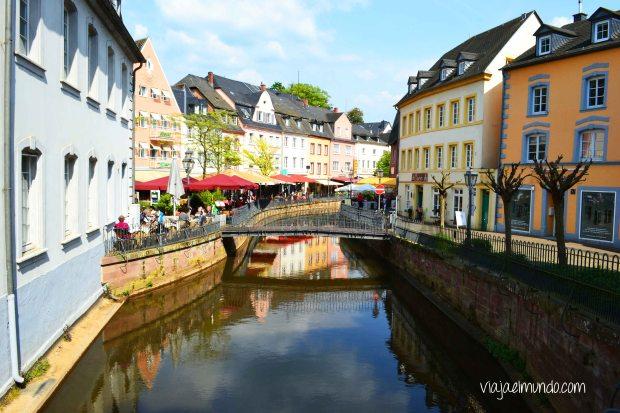 De las vistas bonitas de Saarburg
