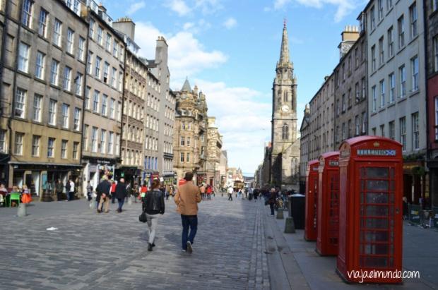 En el Old Town de Edimburgo, Escocia