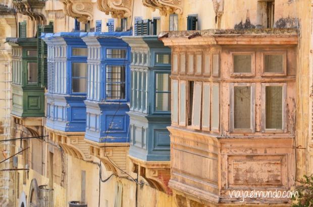 Los balcones de Valleta, Malta