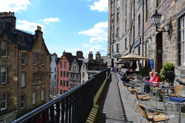 La terraza que da hacia Victoria Street