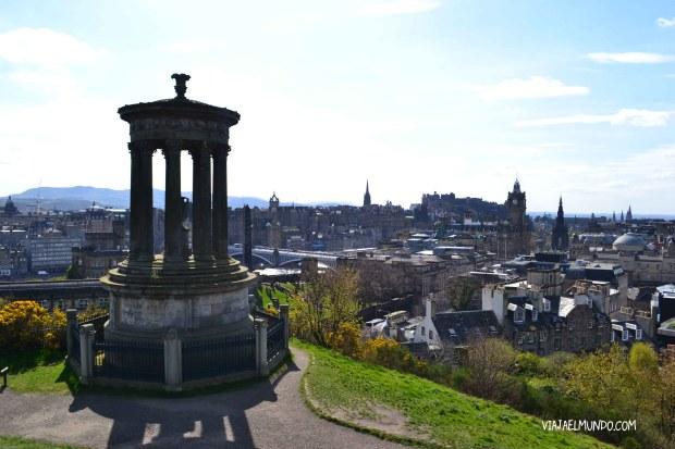 La vista desde Calton Hill, hacia la ciudad antigua