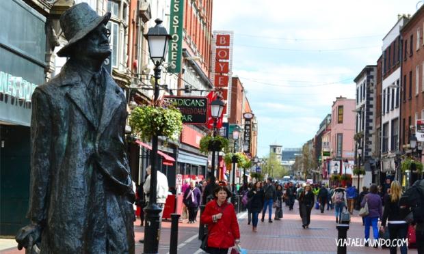 James Joyce se respira en toda la ciudad