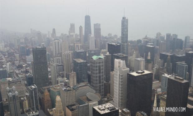 La ciudad desde el piso 103 de la Willis Tower