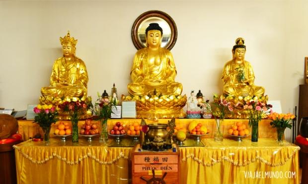 Ya saben, el templo budista en Chinatown