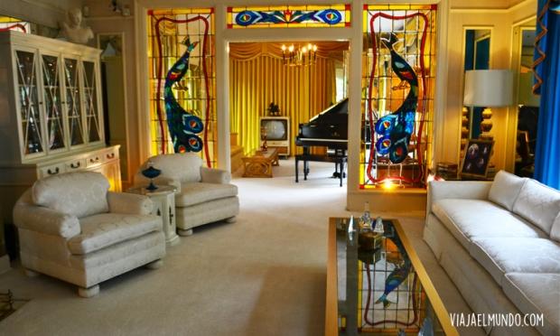 La sala principal de Graceland