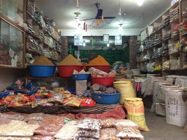 Tienda de especias en Katmandú