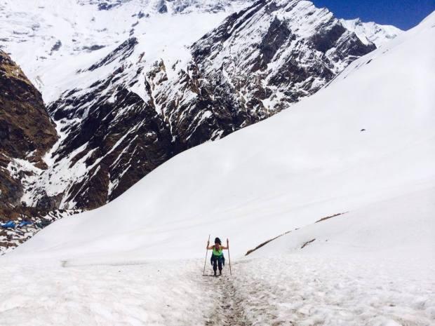 Casi llegando al campamento base del Annapurna