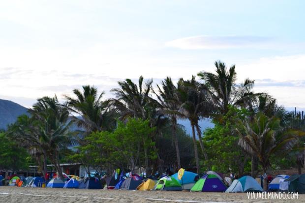 Ellos supieron que acampar en el Caribe sería una buena idea