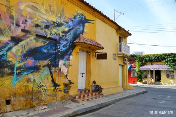 y los colores de Getsemaní, también en Cartagena