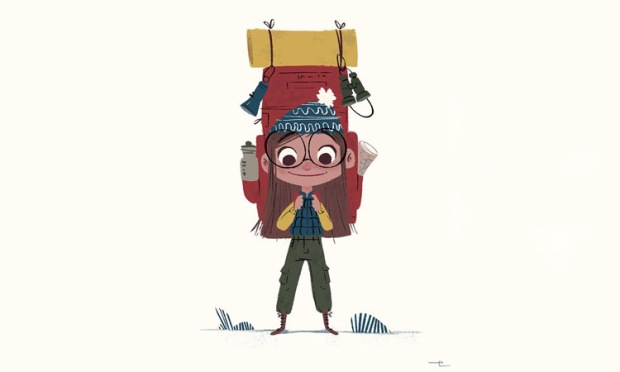 Viaja, ¡hazlo simple! (Ilustración The Little Backpacker & the Boy Scouts, de Eda Kaban)